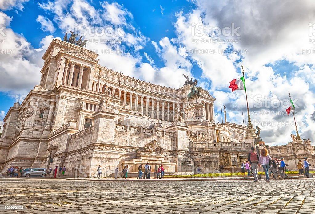Altare della Patria Rome stock photo
