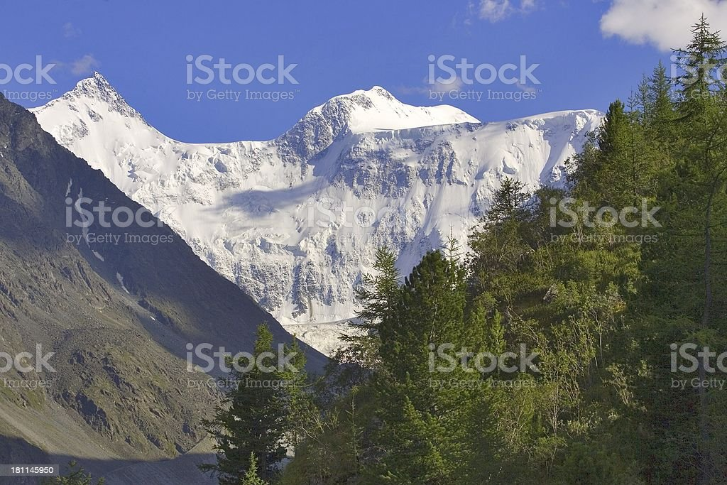 Altay geometry. Beluha 4506m stock photo