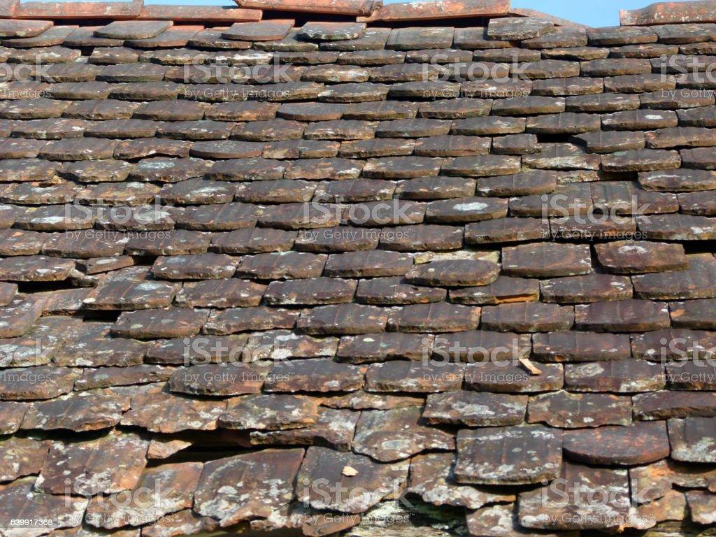 Alte Dachziegel 7 stock photo