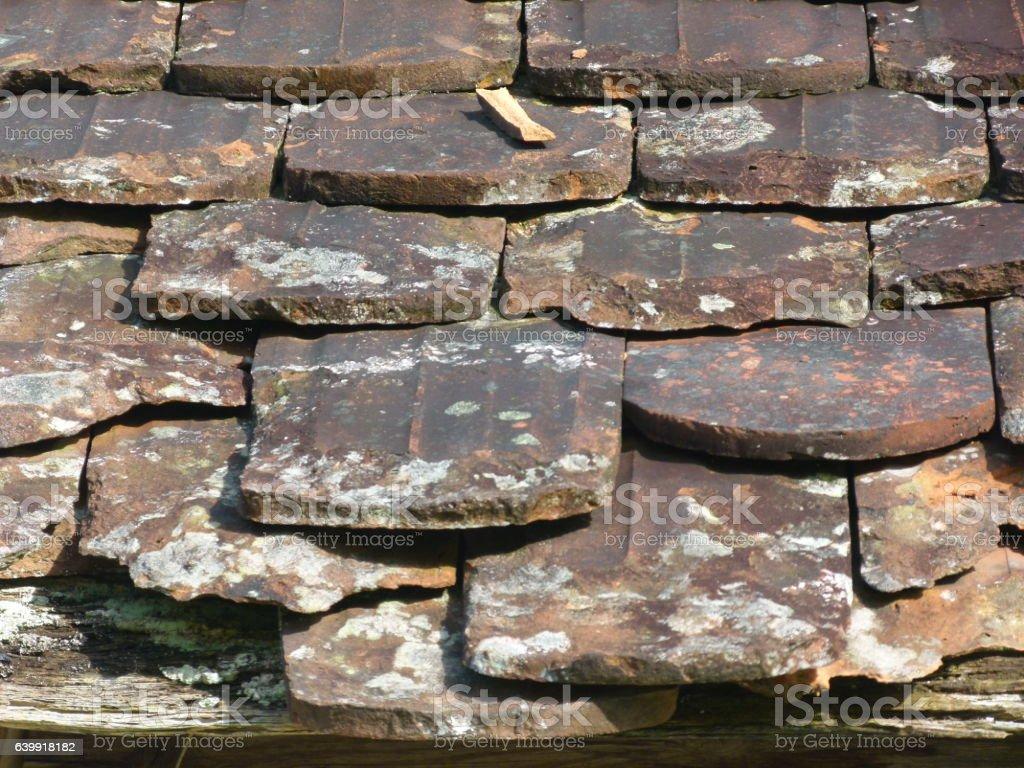 Alte Dachziegel 8 stock photo
