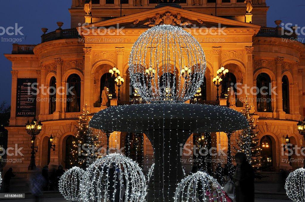 Alte Oper at Christmas, Frankfurt, Germany stock photo