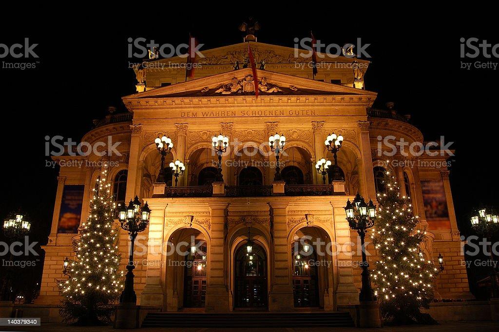 Alte Oper (vieil opéra), Frankfurt am Main, Allemagne photo libre de droits