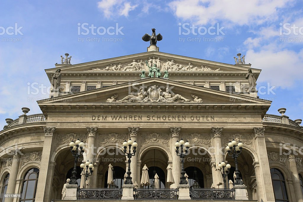 Alte Oper Frankfurt royalty-free stock photo