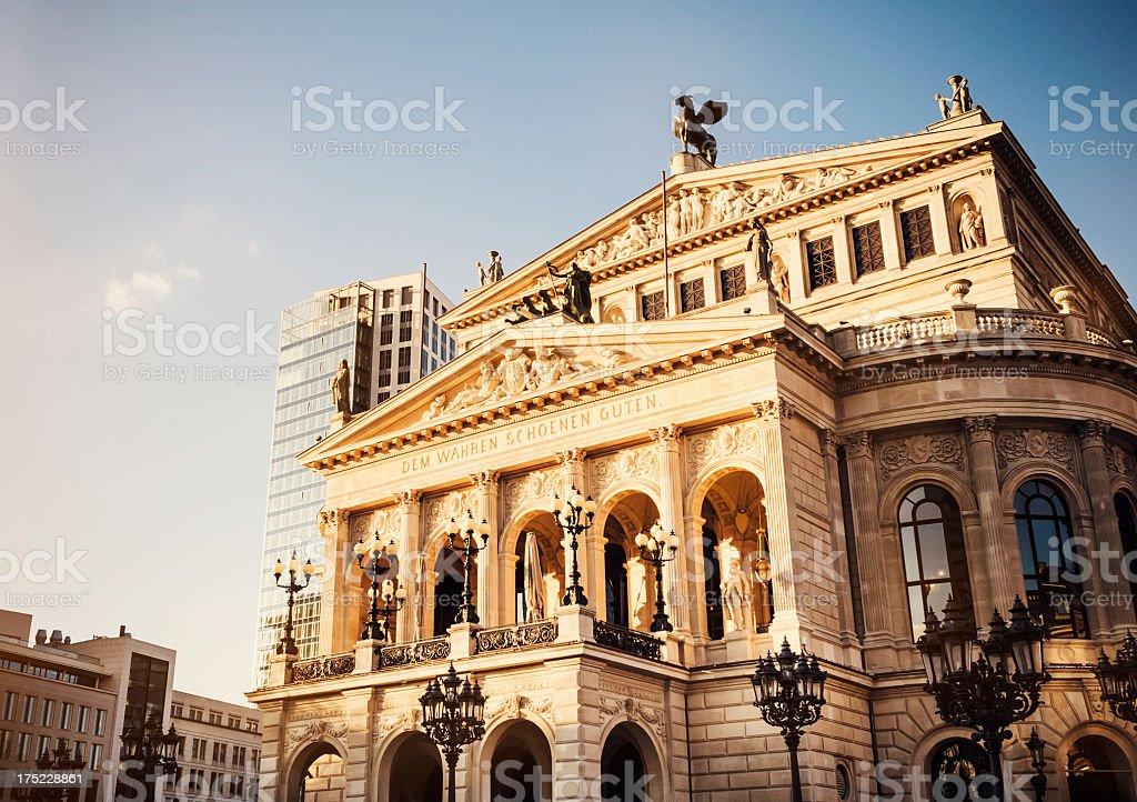 Alte Oper in Frankfurt am Main stock photo