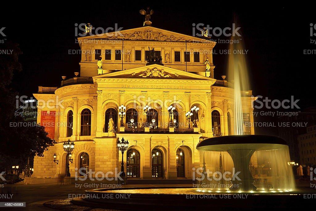 Alte Oper in Frankfurt, Germany stock photo