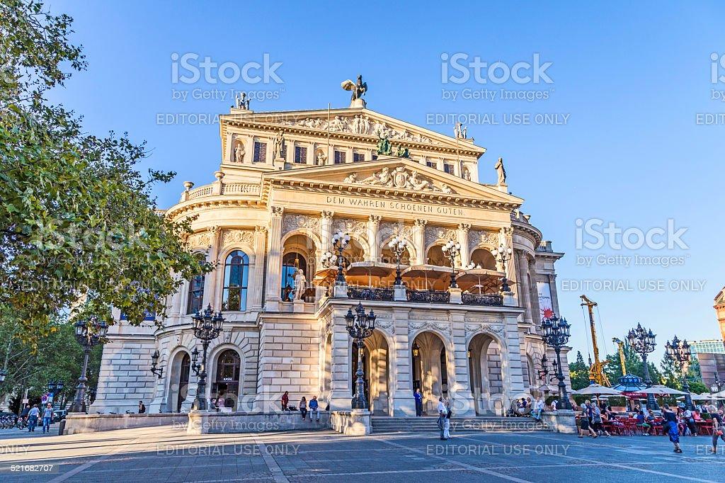 Alte Oper in Frankfurt stock photo