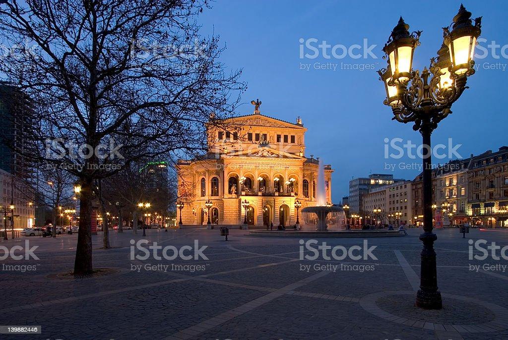 Alte Oper & Operplatz stock photo