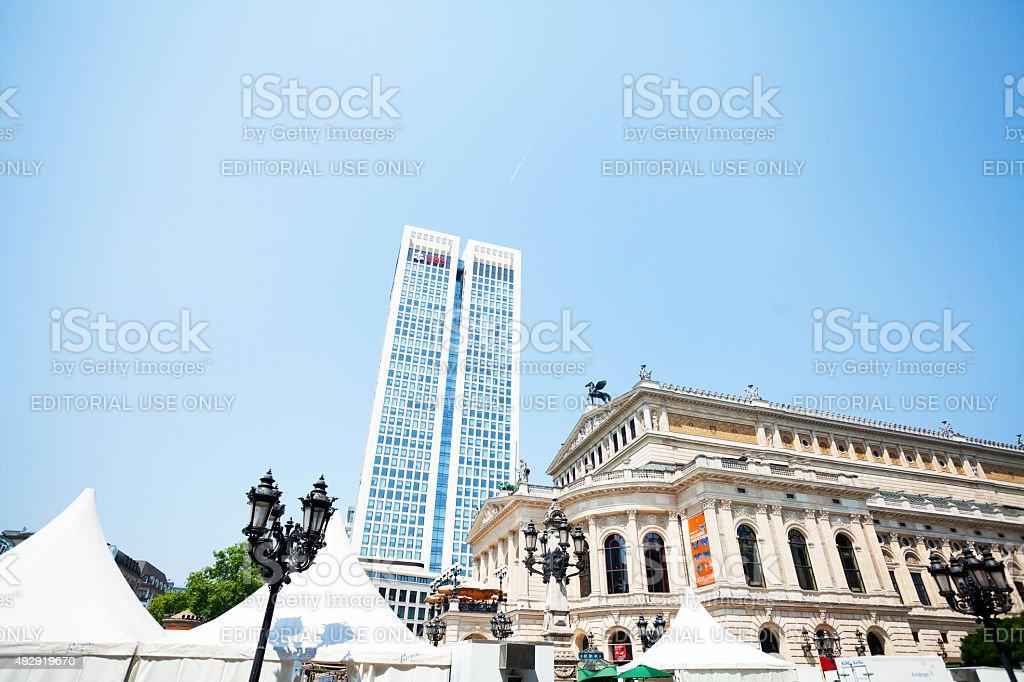 Alte OperFrankfurt and UBS bank stock photo