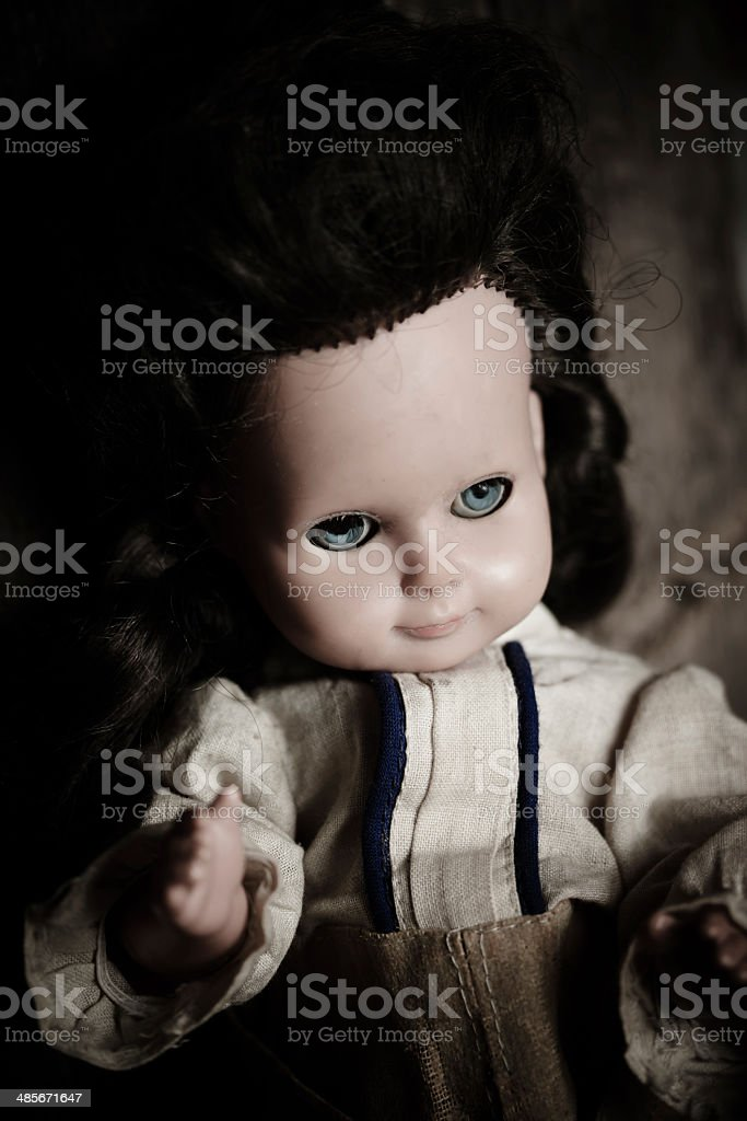 Alte Puppe stock photo