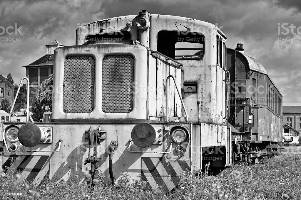 alte stillgelegte Lokomotive stock photo