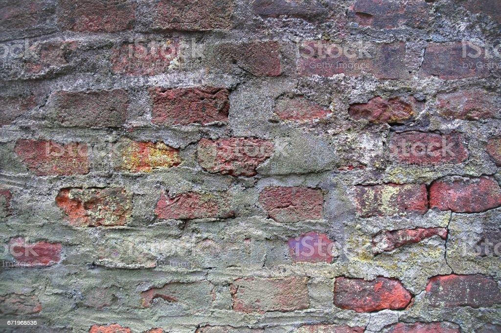 alte Ziegelmauer stock photo
