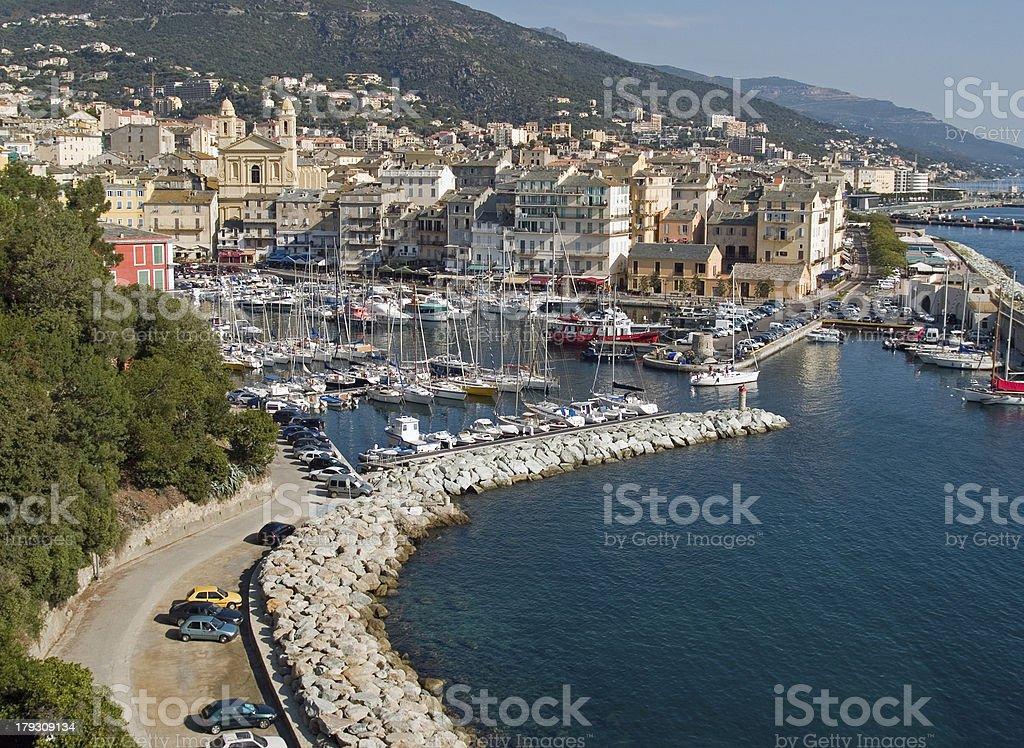 Alter Hafen Bastia Korsika stock photo