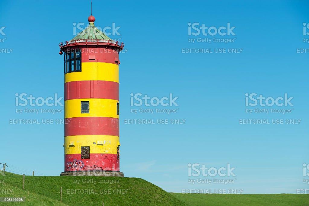 Alter Leuchtturm vor Pilsum an der Nordsee stock photo