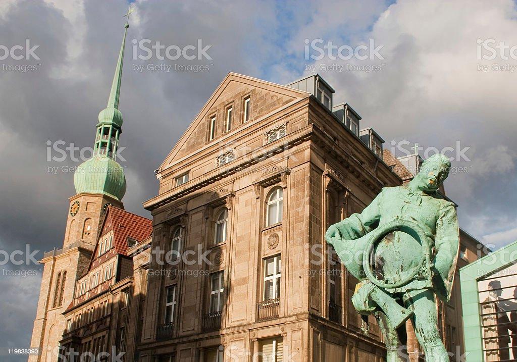 Alter Markt, Reinoldikirche in Dortmund stock photo