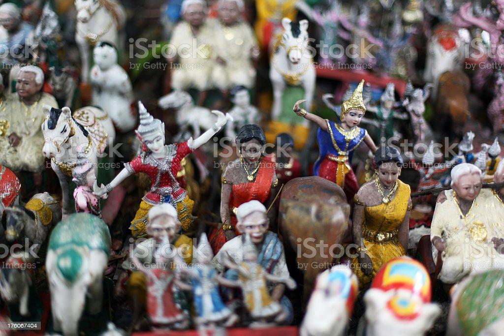 Alter Prayer Toys in Thailand stock photo