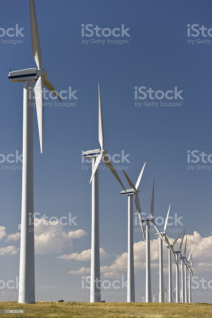 Alternate energy source windmills royalty-free stock photo