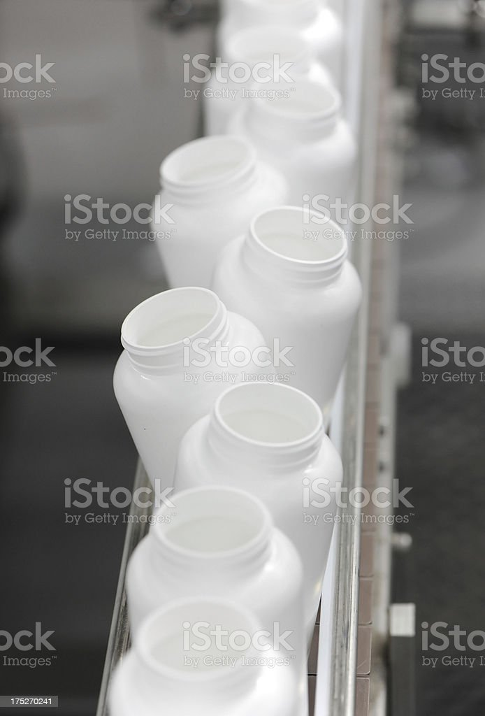 Alternating bottles royalty-free stock photo