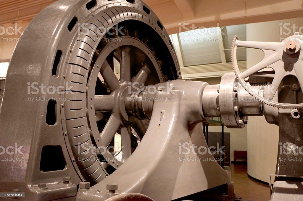 Alternating Current Generator.  Late 1800's stock photo