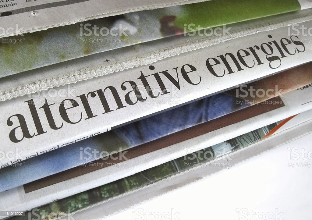 Alternative Energies stock photo