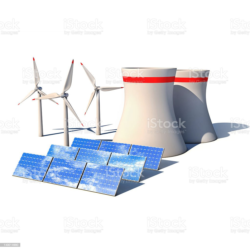 alternative energy 3d concept royalty-free stock photo