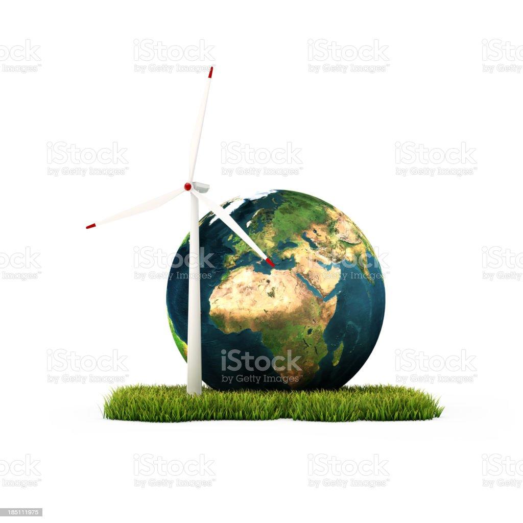Alternative energy concept royalty-free stock photo