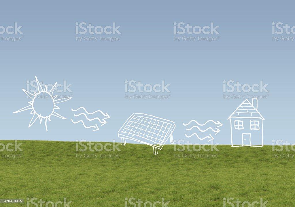 Alternative energy concept stock photo