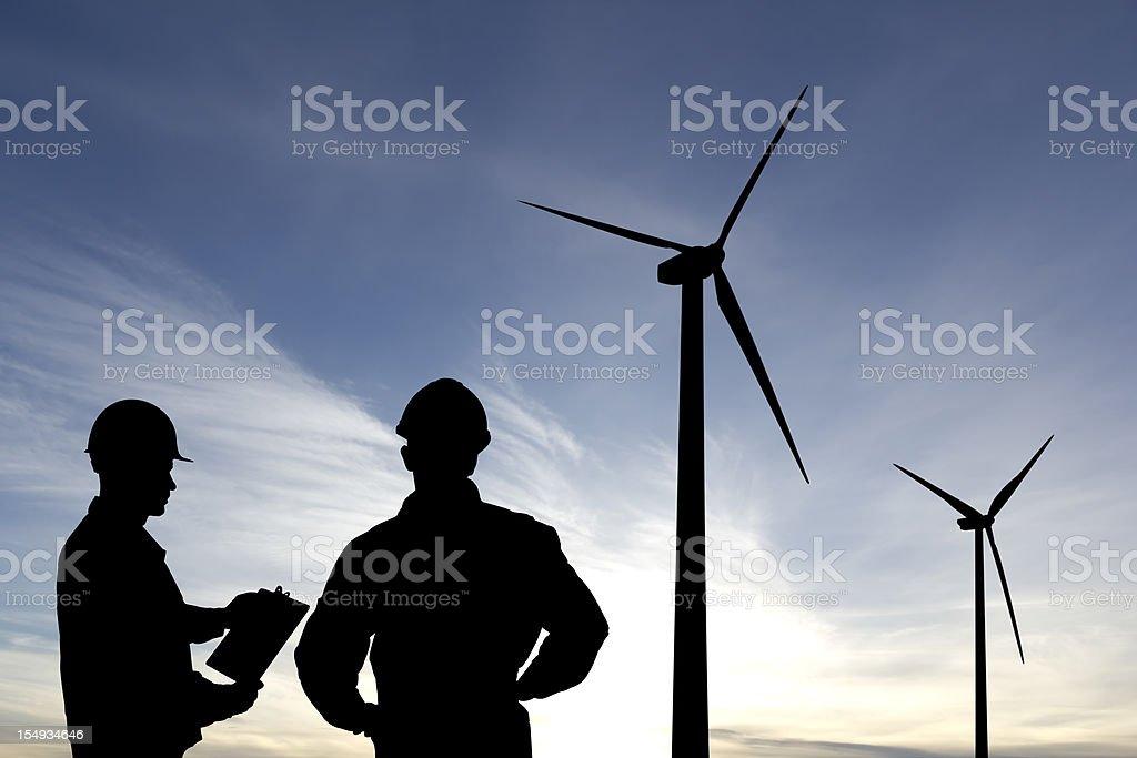 Alternative Energy Inspection royalty-free stock photo