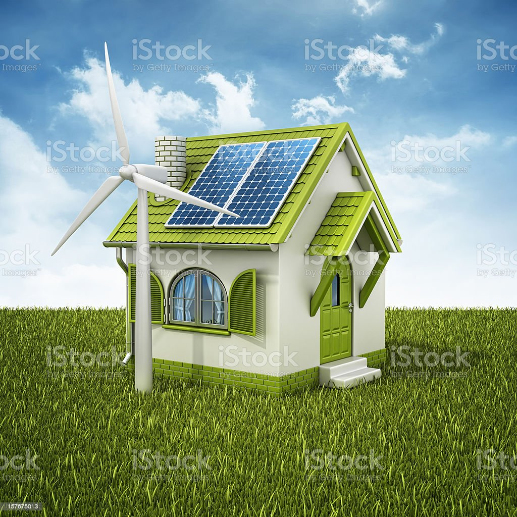 alternative energy vector art illustration