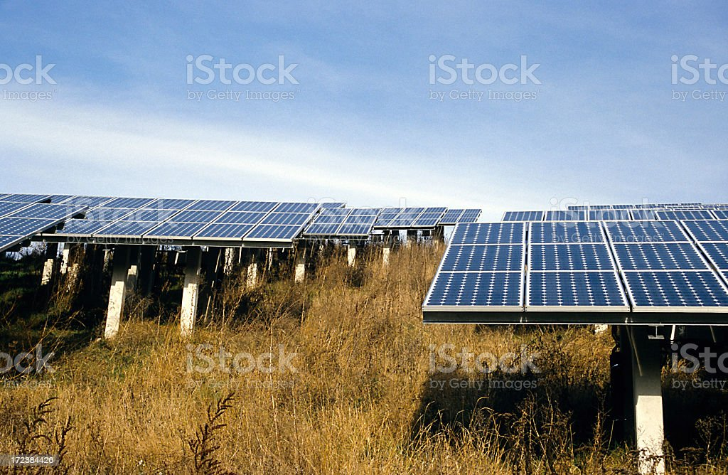 alternative energy - solar power stock photo