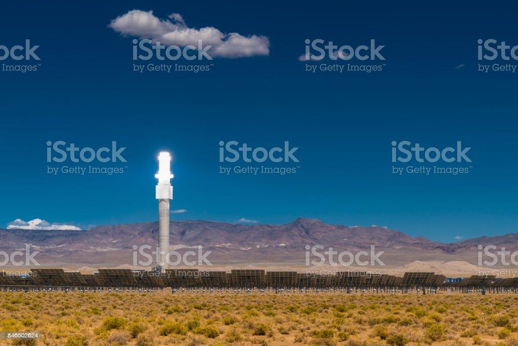 Alternative Energy Solar Thermal Power Station stock photo