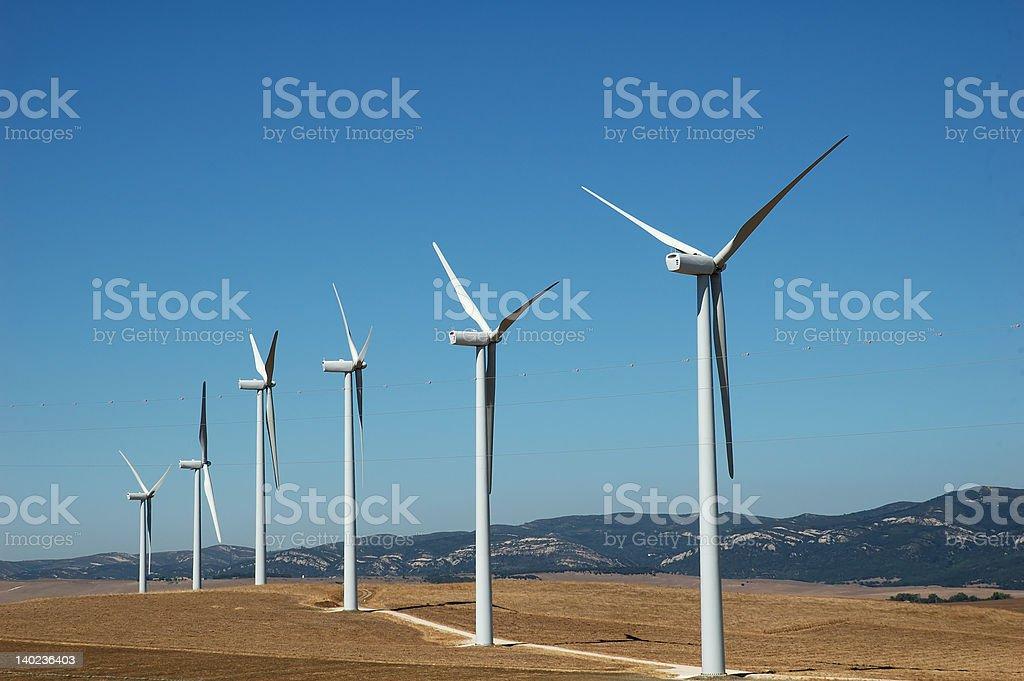 Alternative energy: wind stock photo