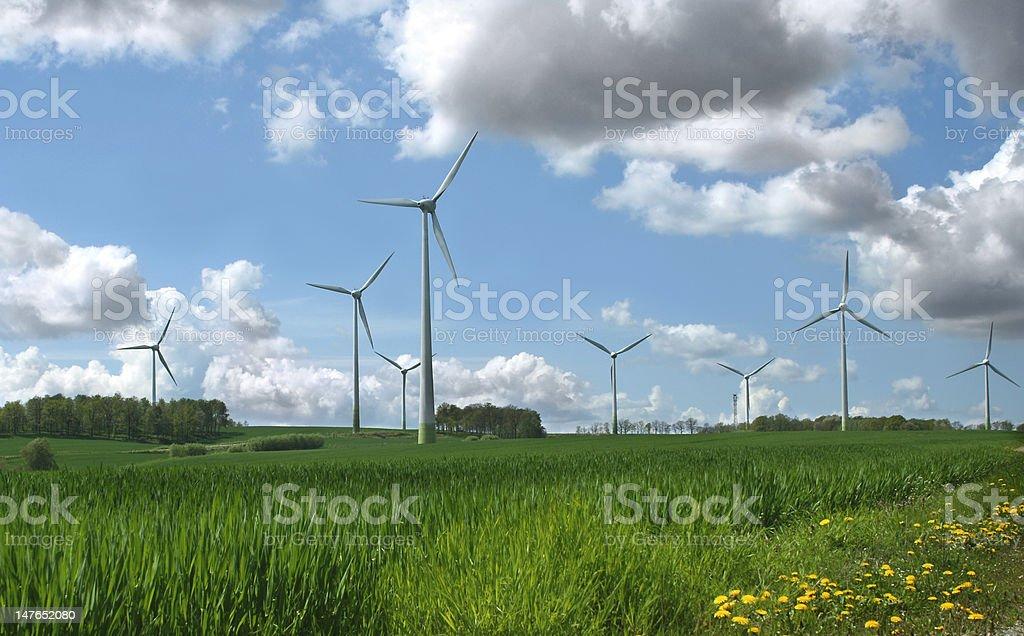 Alternative Energy Wind Turbines stock photo