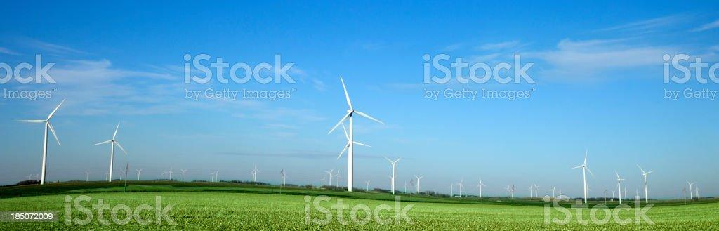 Alternative Energy Windmill Farm royalty-free stock photo
