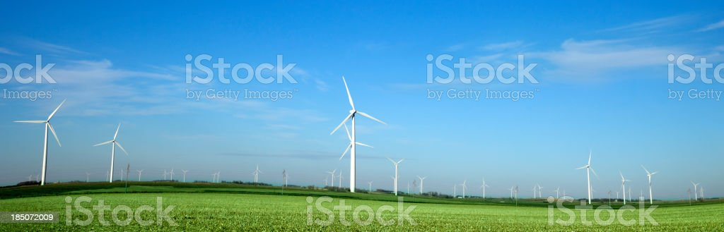 Alternative Energy Windmill Farm stock photo