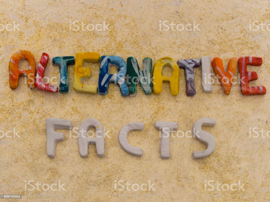 Alternative Facts concept stock photo