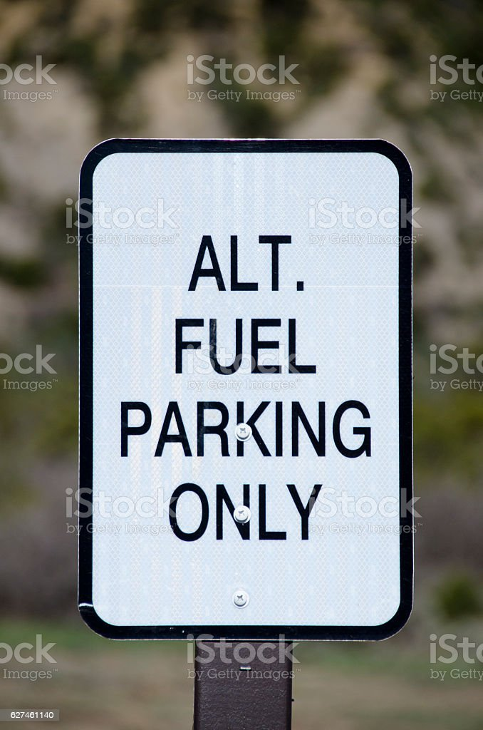 Alternative Fuel Parking Sign stock photo