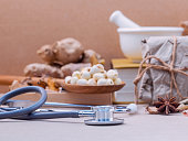 Alternative health care dried various Chinese herbs