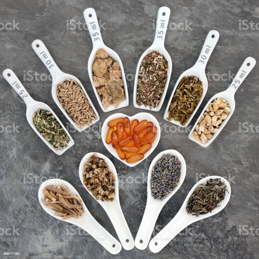 Alternative Herbal Medicine stock photo