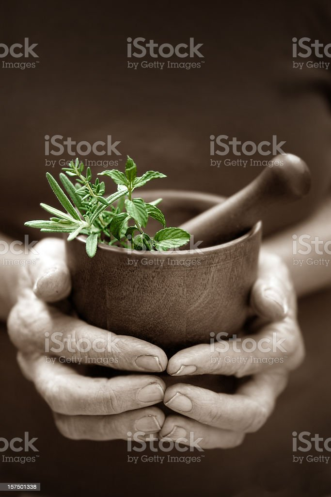 Alternative Herbs stock photo