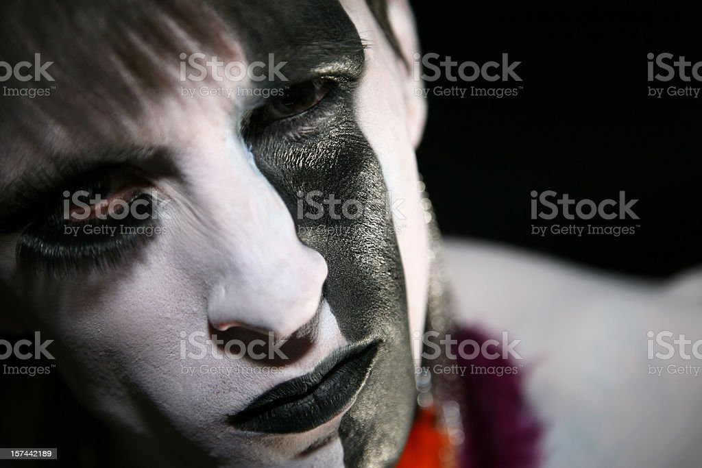 Alternative Man with Painted Face royalty-free stock photo