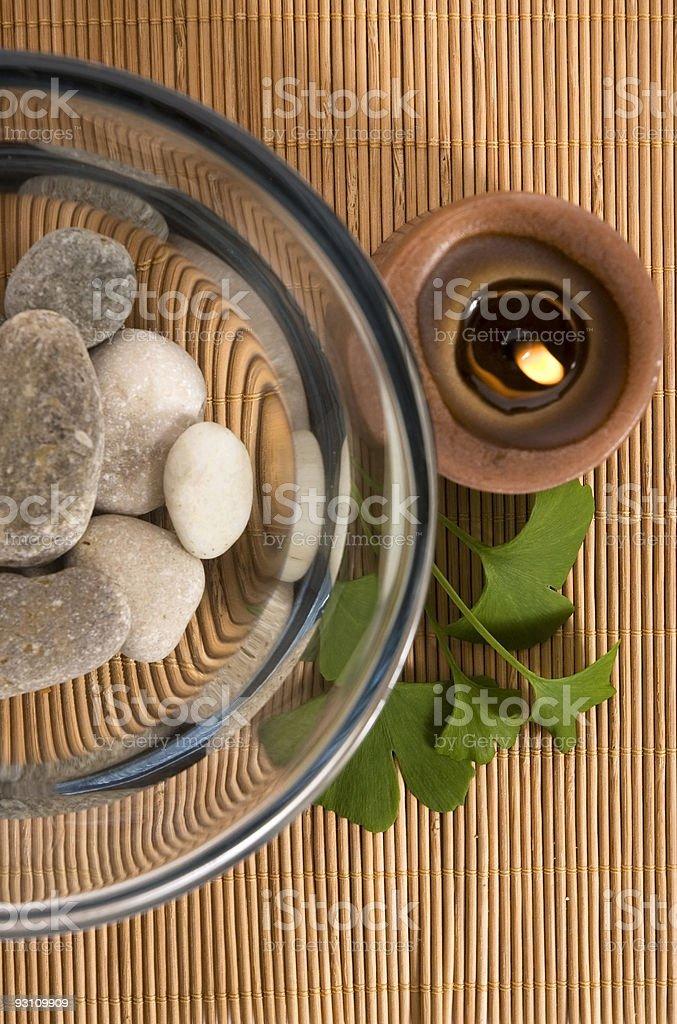 alternative medicine. ginkgo biloba therapy royalty-free stock photo
