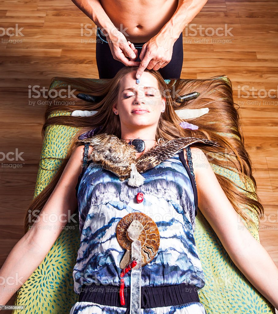 Alternative Medicine: Reiki stock photo
