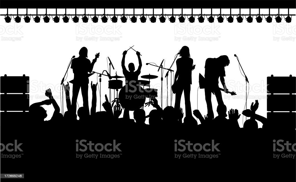 Alternative Rock Concert royalty-free stock photo