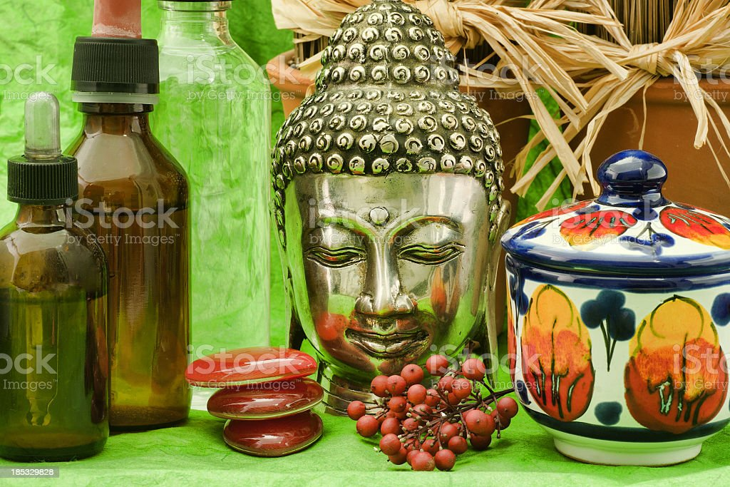 alternative therapy products stock photo