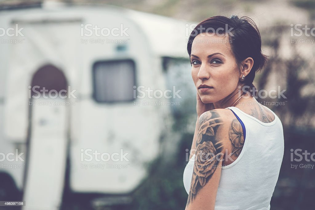 Alternative woman stock photo