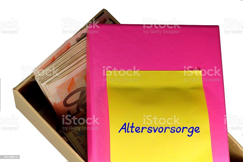 Altersvorsorge stock photo