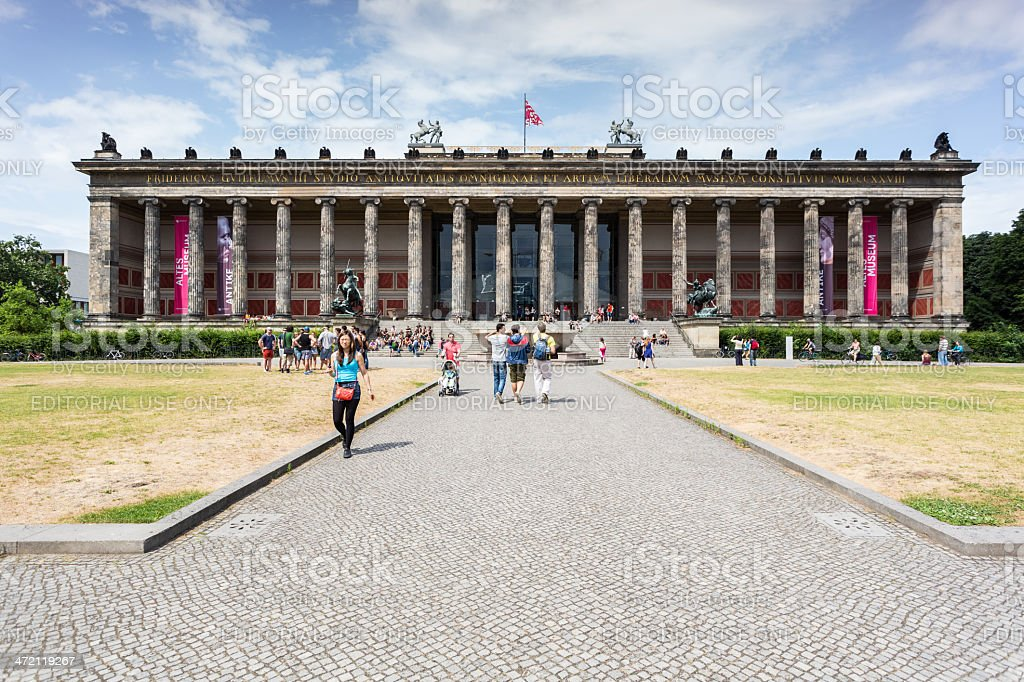 Altes (Old) Museum located on Museuminsel royalty-free stock photo