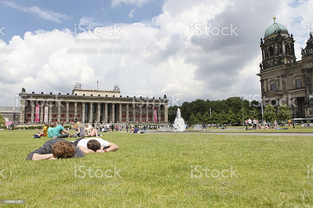 Altes Museum with relaxing people royalty-free stock photo