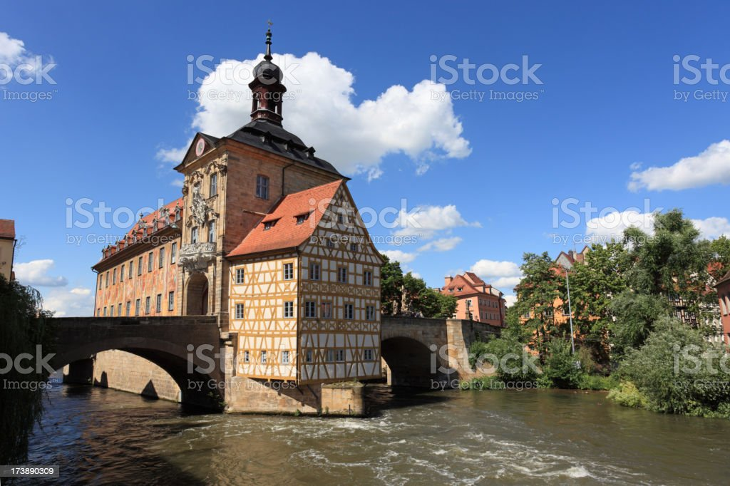 Altes Rathaus (former city hall) in Bamberg -Bavaria Germany stock photo