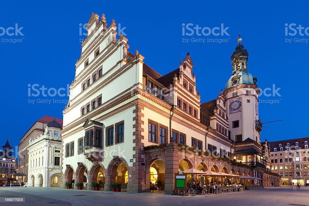 Altes Rathaus Old City Hall Leipzig Saxony Germany stock photo